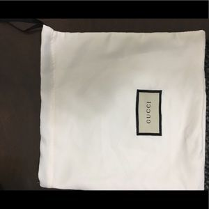 Authentic Gucci  dust bag brand new